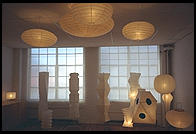 Lamps in the Isamu Noguchi Garden Museum, Long Island City, Queens, New York