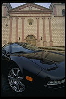 Acura NSX-T at Mission Santa Barbara (California).