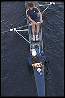 Head of the Charles Regatta, Sunday, October 18, 1998.  From the footbridge to Harvard Business School