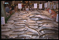 Fish for sale in the Public Market, Seattle, Washington
