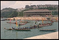 Dragon boat races in Stanley.  Hong Kong