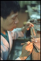 Jewelry factory worker.  Hong Kong