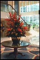 Bouquet in lobby of Island Shangri-La Hotel.  Hong Kong