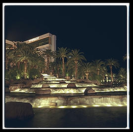 Mirage Hotel.  The Strip.  Las Vegas, Nevada.