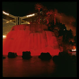 Volcano.  Mirage Hotel.  The Strip.  Las Vegas, Nevada.