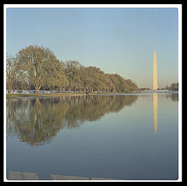 Washington Monument and Reflecting Pool.  Washington, D.C.