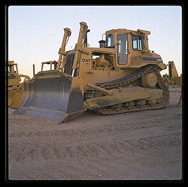 Bulldozer.  Caterpillar Arizona Proving Grounds