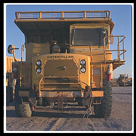 Mining Truck.  Caterpillar Arizona Proving Grounds