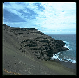 Green Sand Beach.  Big Island, Hawaii