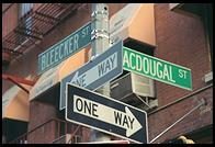 Bleecker and Macdougal.  Greenwich Village, Manhattan, New York