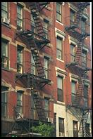 Fire escapes.  Greenwich Village, Manhattan, New York