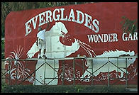 Everglades Wonder Gardens sign.  SW Florida