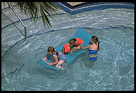 Kids in Pool, Sanibel Harbour Resort (one of the world's worst), Fort Meyers, Florida
