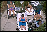Poolside, Sanibel Harbour Resort (one of the world's worst), Fort Meyers, Florida