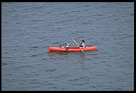 Sea Kayak in channel, near Sanibel Island causeway, Florida