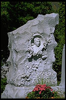 Cemetery in Barre, Vermont, a showcase for some of the finest granite carving in the United States
