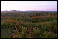 Sunrise at the so-called Hundred Mile View, Rt. 9 just west of Marlboro, Vermont.
