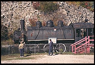 Locomotive at the Rock of Ages quarry.  Graniteville, Vermont.