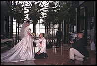 Wedding video shoot.  World Financial Center.  New York City.