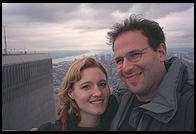 Eve and Philip on top of the World Trade Center Observation Deck