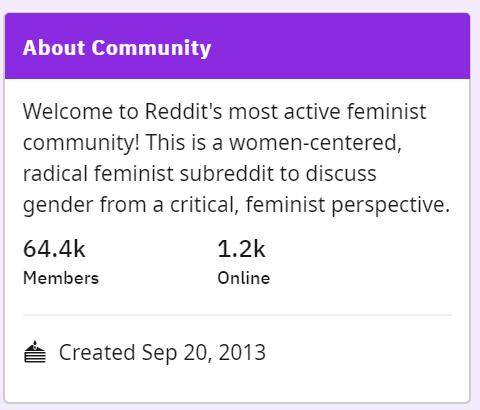 Reddit Stuffs The Gender Critical Feminists Into The Memory Hole Philip Greenspun S Weblog