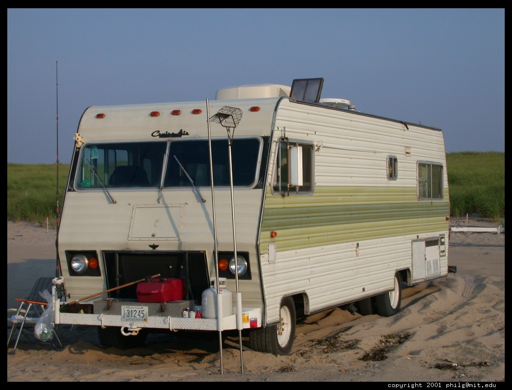 Digital Photo Titled Old Class A Rv