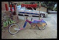 Lowrider bike.  Chimayo, New Mexico.
