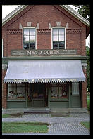 Mrs. Cohen's shop.  Greenfield Village (at Michigan's Henry Ford Museum).