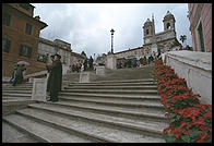 Rome's Spanish Steps, cleaned and reopened for Christmas 1995