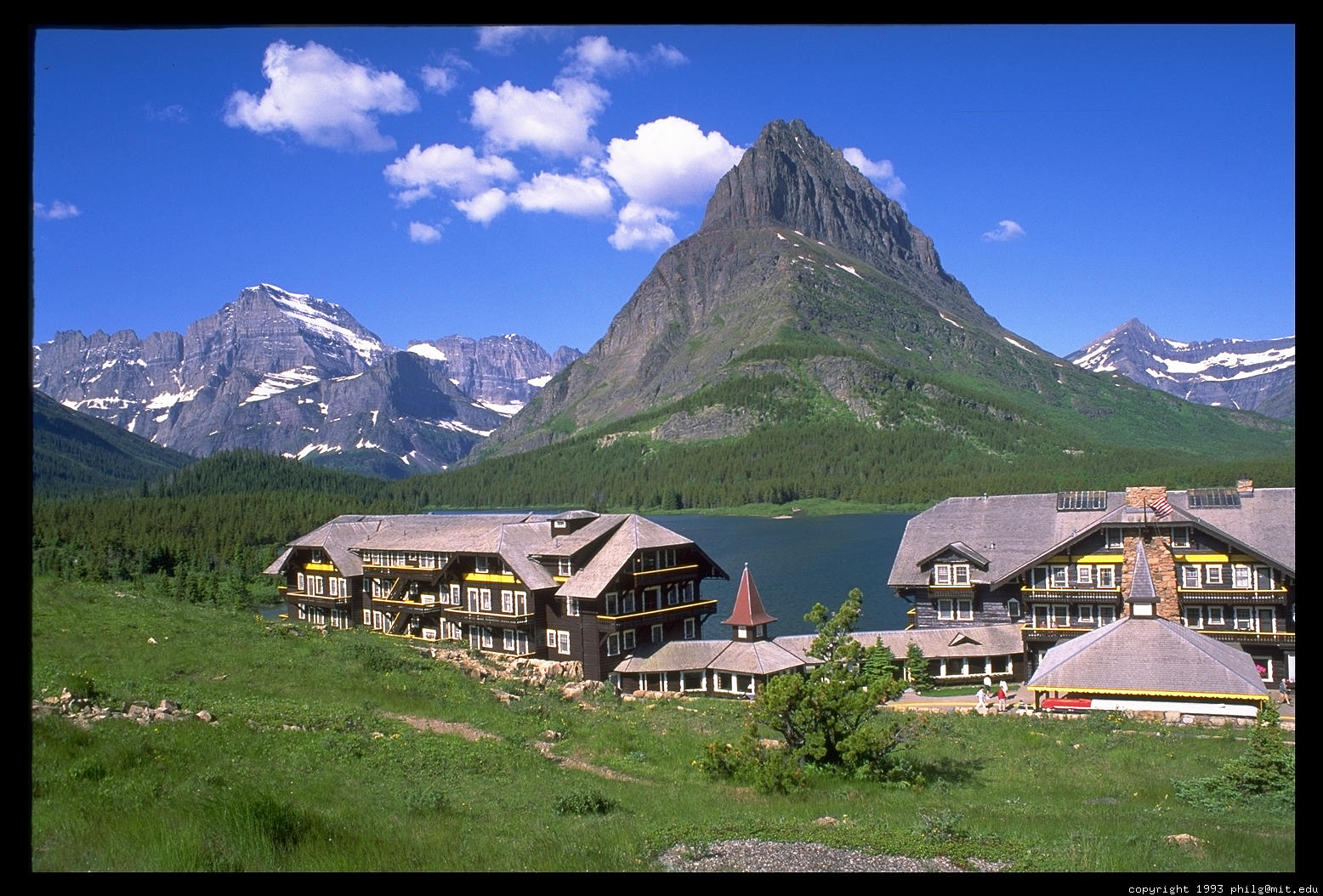 The Original Photocd File May Be Available Many Glacier Lake Hotel