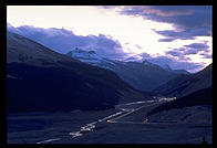 Sunset over the Columbia Icefield
