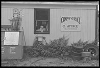 The one store on Chappaquiddick, Martha's Vineyard, Massachusetts. It is a combination beer/ice shop and junkyard
